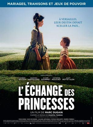 En 1721, à Versailles, une idée audacieuse germe dans la tête de Philippe d'Orléans, Régent de France… Louis XV, 11 ans, va bientôt devenir Roi et un échange de princesses permettrait de consolider la paix avec l'Espagne, après des années de guerre qui ont laissé les deux royaumes exsangues. Il marie donc sa fille, Mlle de Montpensier, 12 ans, à l'héritier du trône d'Espagne, et Louis XV doit épouser l'Infante d'Espagne, Anna Maria Victoria, âgée de 4 ans. L'entrée précipitée dans la cour des Grands de ces jeunes princesses, sacrifiées sur l'autel des jeux de pouvoirs, aura raison de leur insouciance…  Film français de Marc Dugain, sorti en France le 27 décembre 2017 avec Lambert Wilson, Olivier Gourmet, Anamaria Vartolomei, Juliane Lepoureau et Catherine Mouchet.  LIRE LA CRITIQUE