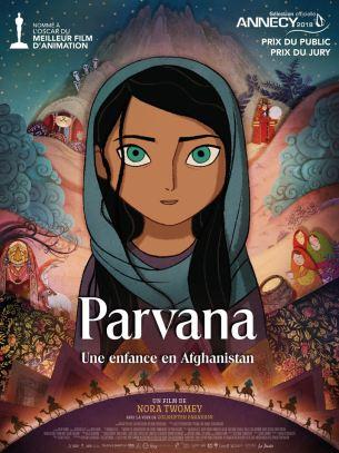 En Afghanistan, sous le régime taliban, Parvana, onze ans, grandit à Kaboul ravagée par la guerre. Elle aime écouter les histoires que lui raconte son père, lecteur et écrivain public. Mais un jour, il est arrêté et la vie de Parvana bascule à jamais. Car sans être accompagnée d'un homme, on ne peut plus travailler, ramener de l'argent ni même acheter de la nourriture. Parvana décide alors de se couper les cheveux et de se travestir en garçon afin de venir en aide à sa famille.  Film d'animation de Nora Twomey, sorti en France le 27 juin 2018, avec les voix de Golshifteh Farahani, Saara Chaudry, et Soma Bhatia.  LIRE LA CRITIQUE