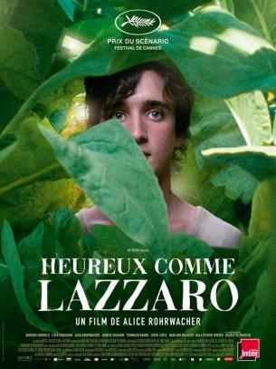 Lazzaro, un jeune paysan d'une bonté exceptionnelle vit à l'Inviolata, un hameau resté à l'écart du monde sur lequel règne la marquise Alfonsina de Luna. La vie des paysans est inchangée depuis toujours, ils sont exploités, et à leur tour, ils abusent de la bonté de Lazzaro.  Film italien de Alice Rohrwacher, sorti en France le 7 novembre 2018, avec Adriano Tardiolo, Alba Rohrwacher, Agnese Graziani.  LIRE LA CRITIQUE