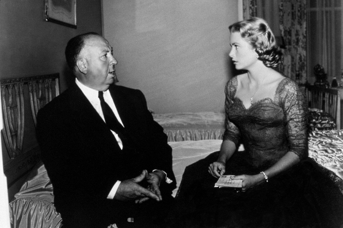 Alfred Hitchcock y Grace Kelly