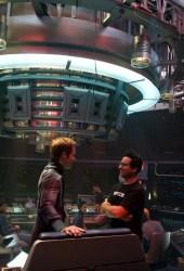 Chris Pine e il regista J.J. Abrams