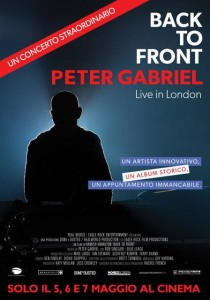 Back to front Peter Gabriel poster