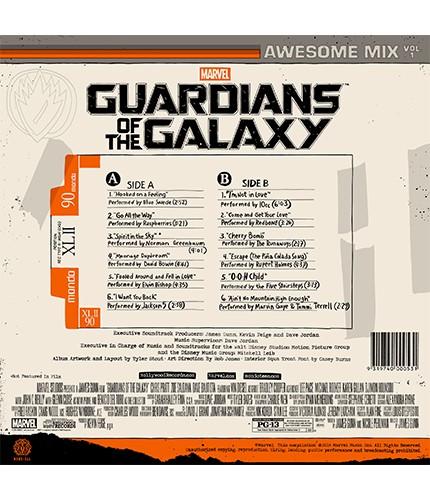 Guardiani della galassia nel 2015 il vinile con l 39 intera for Spirit colonna sonora