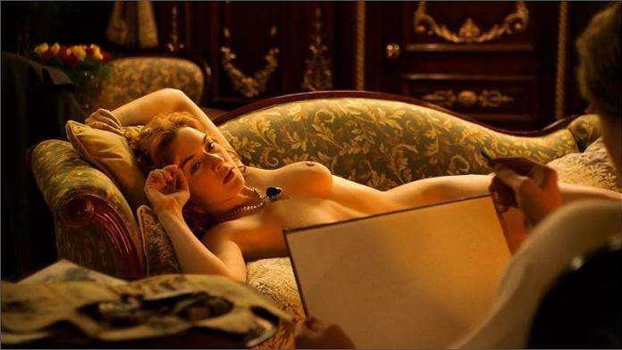Kate Winslet nuda nel film Titanic