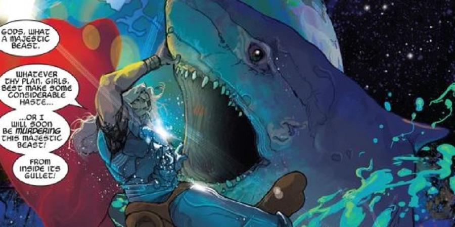 Horror-Shop Thor scherza il casco