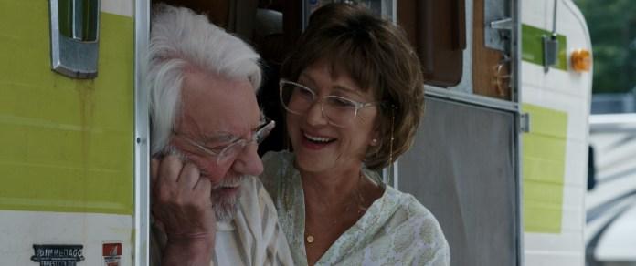 Helen Mirren e Donald Sutherland in Ella e John - The Leisure Seeker di Paolo Virzì