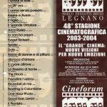Volantino Stagione 2003-2004