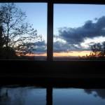 tramonto con la vasca senza luci