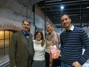 Marco Sabellico with Tiina and one of his collaborators with Francesco Azzarone