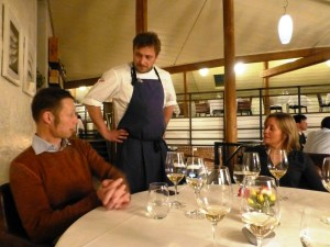 our Moestue importers with the best Italian chef in Oslo