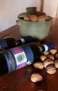 Rosso-Montalcino-2011-bottle with walnuts