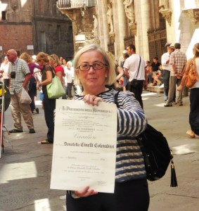 Donatella Cinelli Colombini, honorary title of Knight of the Repubblic