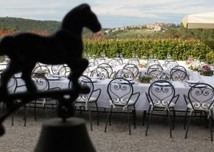 Pranzo di nozze all'aperto Fattoria del colle