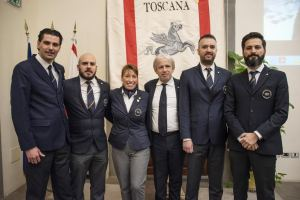 Campioni-italiani-sommelier-2019-con-l'Assessore-Remaschi-della Toscana
