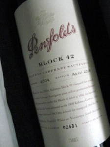 Penfolds Block 42 Kalimna: vini più cari del mondo
