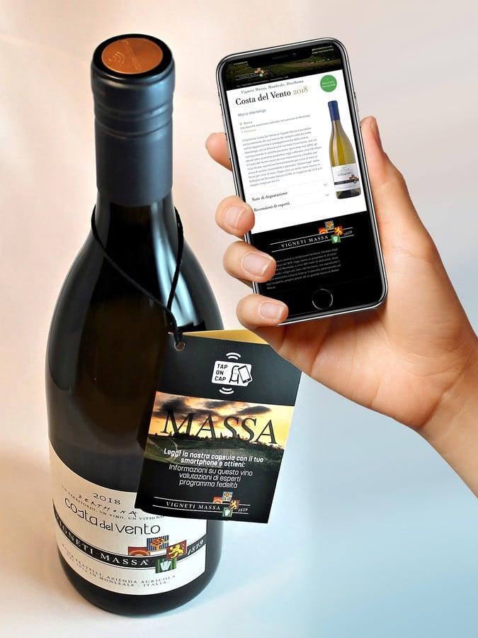 tappo Guala NFC con alta tecnologia