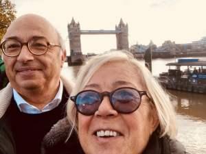 Donatella Cinelli Colombini a Londra con Carlo
