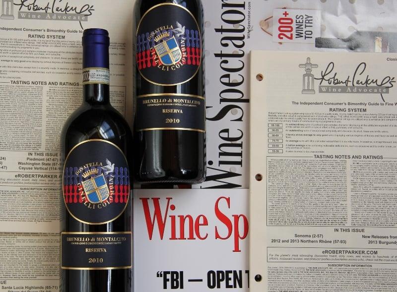 Brunello di Montalcino - Wine Spectator e Robert Parker