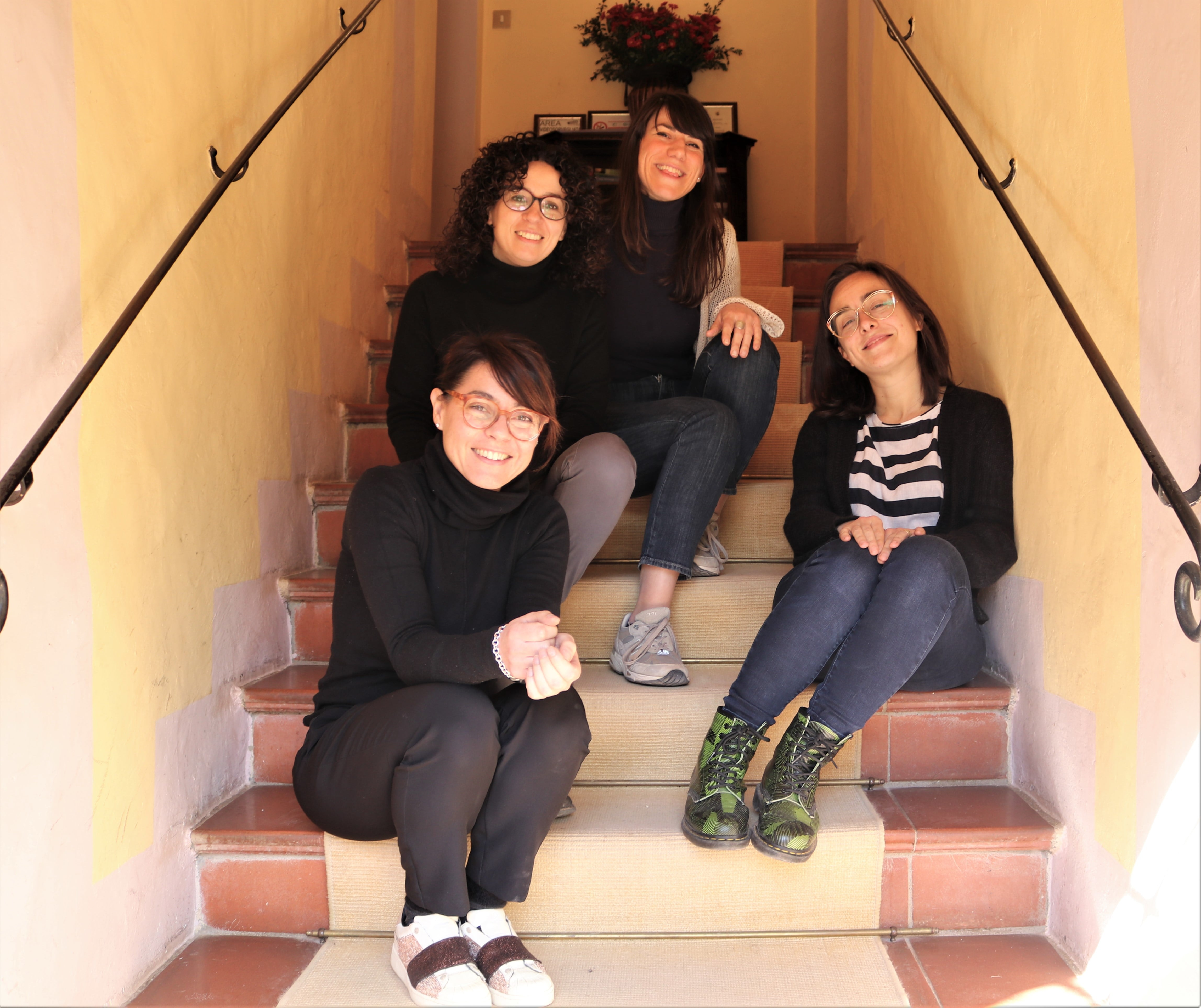 Tourism and covid-19 the team of Fattoria del Colle Sara Alessia Silvia and Carolina