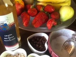 Fruit Salad with Grappa di Brunello