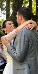 Violante e Enrico appena sposati