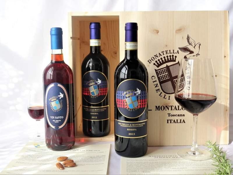 Offerta Brunello Riserva 2012 & 2013 con Vin Santo del Chianti 2008 - Donatella Cinelli Colombini