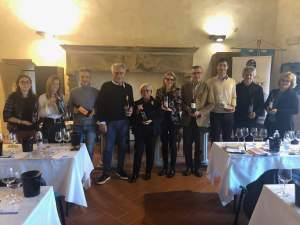 Gabriele Gorelli MW with the DOC Orcia wine producers in San Giovanni d'Asso - 2019