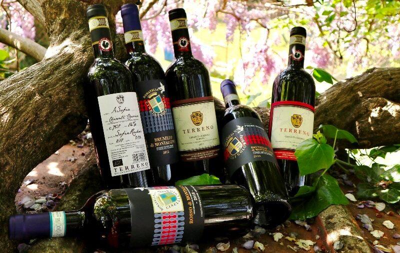 3 bottiglie di Montalcino e di Chianti Classico - Cinelli Colombini e Az. Terreno