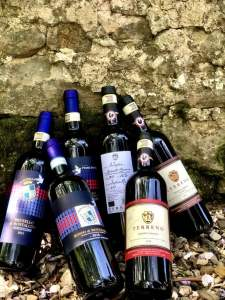 Rosso, Brunello di Montalcino della cantina Casato Prime Donne e Chianti Classico della Cantina Terreno