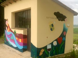 Fattoria-de-Colle-murales-di-Cenerentola-all'ingresso