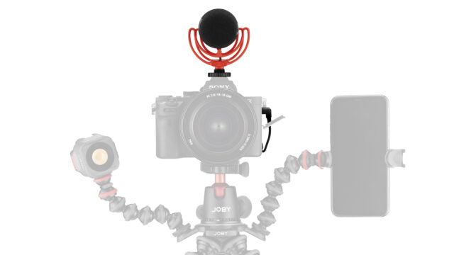 JOBY Wavo DSLR & mobile phone setup with headlight (Credits: Vitec Group / JOBY)