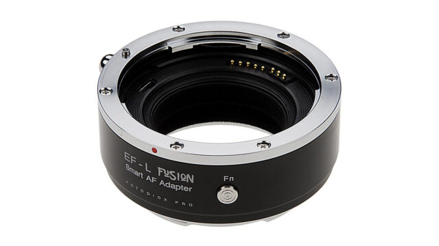 The Fotodiox EF to L-Mount Pro Fusion Adaptor