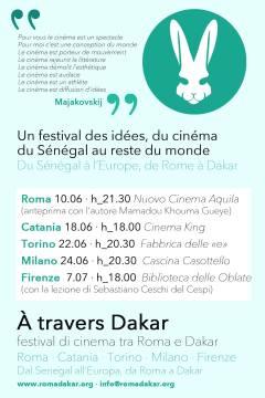 """prima tappa di """"À TRAVERS DAKAR"""" LA SECONDA EDIZIONE DEL FESTIVAL DEL CINEMA SENEGALESE"""