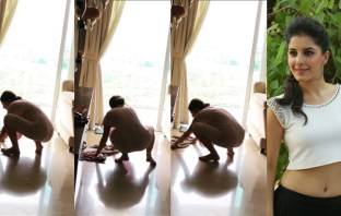 Isha Talwar Cleans the Floor as a Part of Fitness Challenge