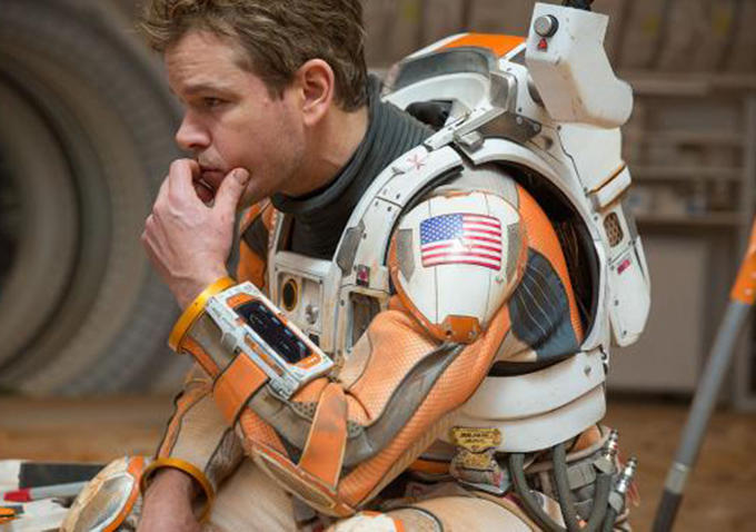 Matt Damon preocupado com tHE MARTIAN