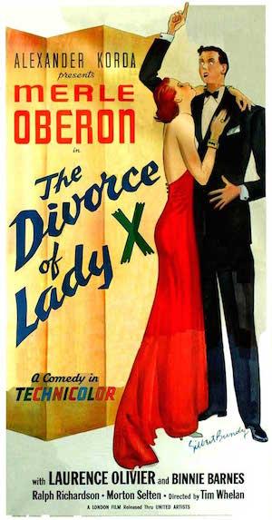 Le Divorce de Lady X (affiche)