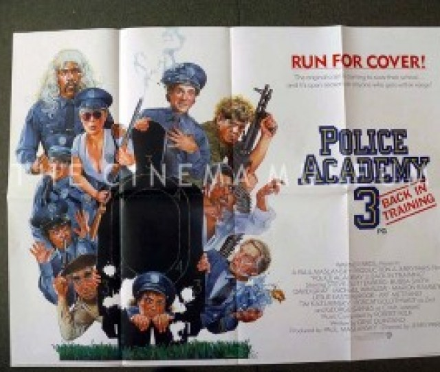 A Poster For Police Academy 3 Back In Training