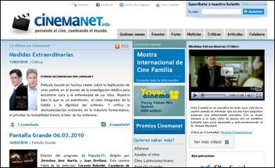 La nueva apariencia de cinemanet.info