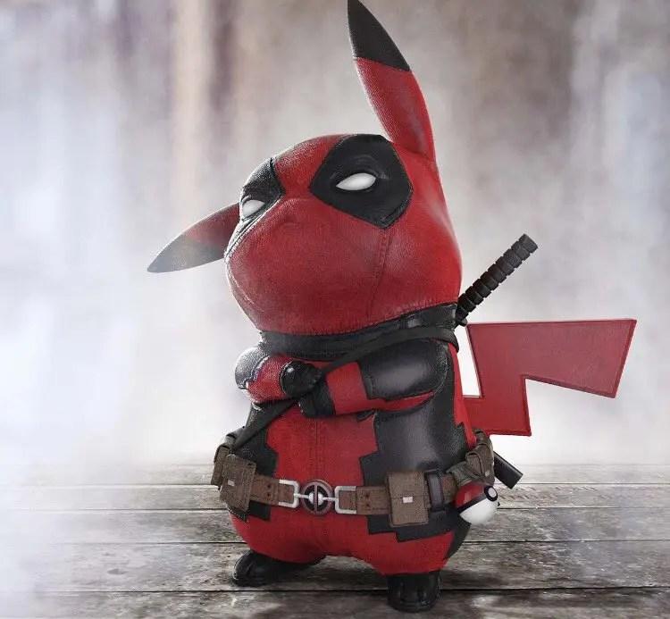 Image result for deadpool pikachu png