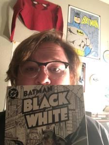 Tom B. with Batman Black and White