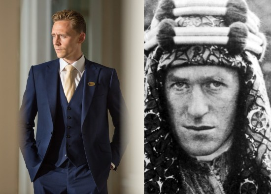 Tom Hiddleston : T.E. Lawrence Characters