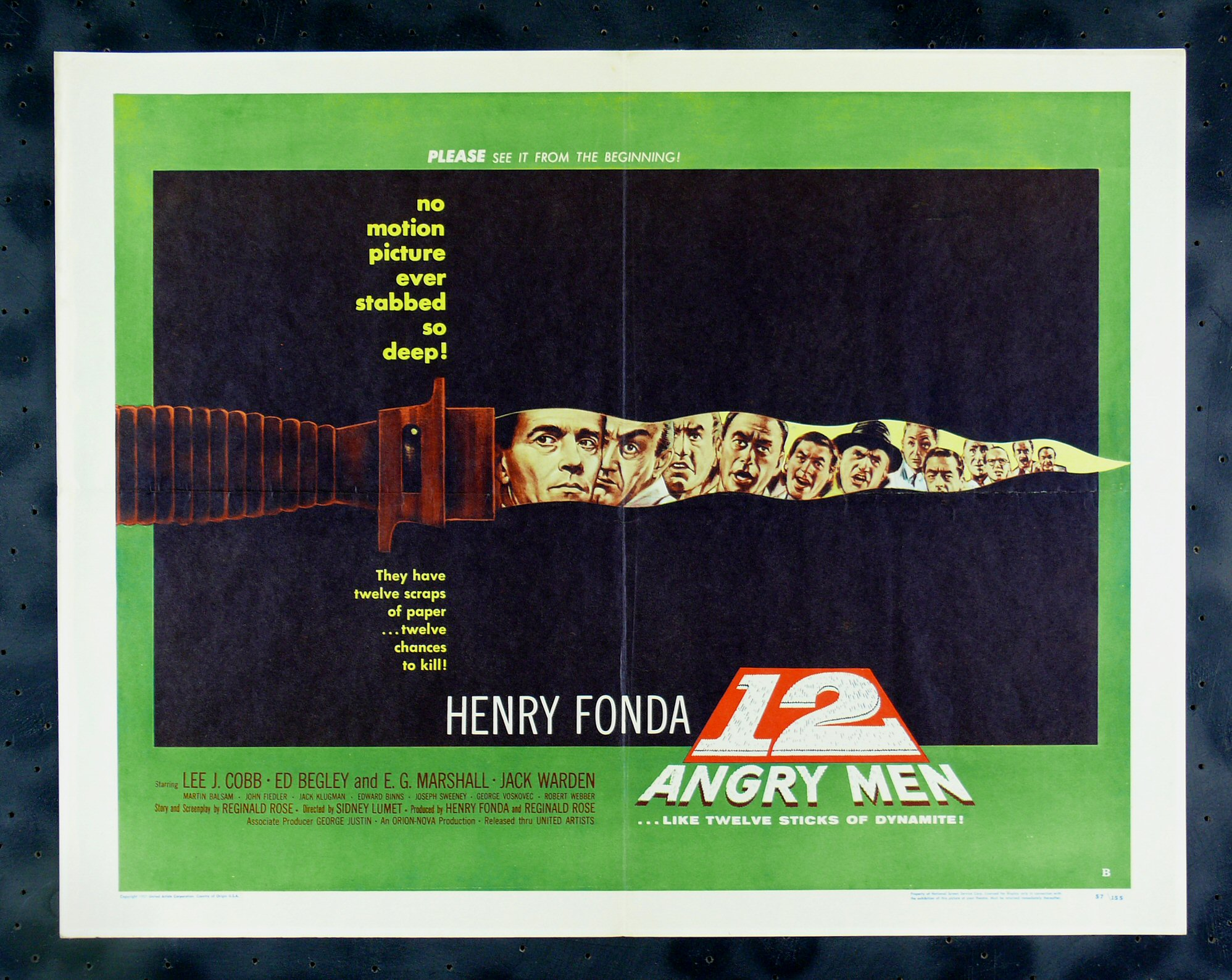 12 Angry Men Lawyer Twelve Knife Dagger Movie Poster Judge Trial Jury Law