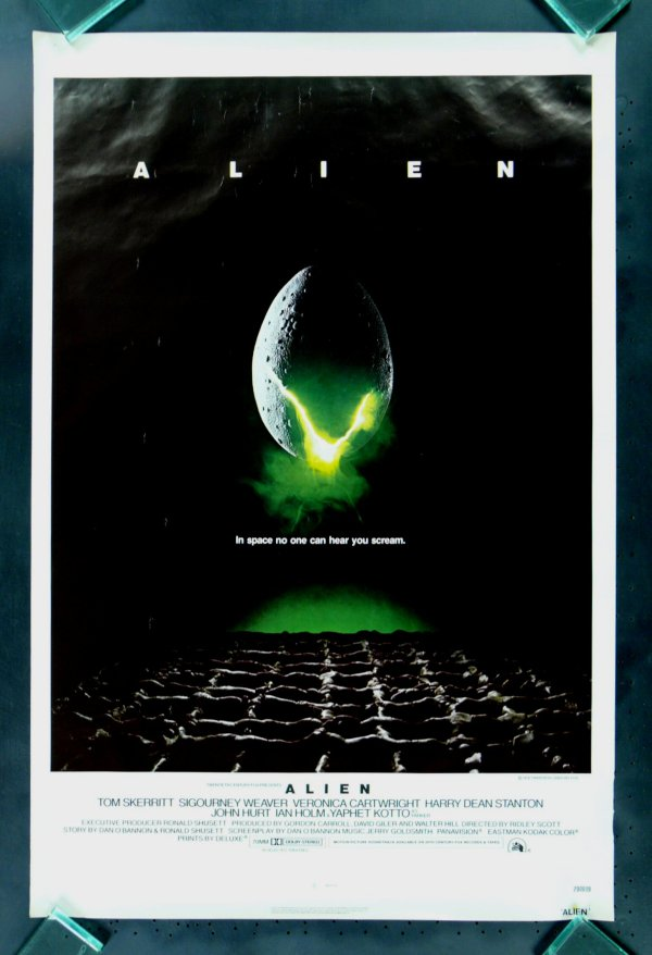 Alien Movie Poster, In space no one can hear you scream ...