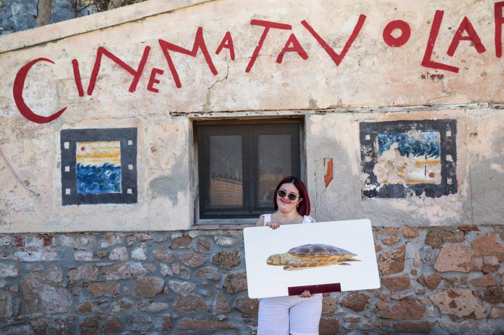 Cinematavolara 2019 prima serata Carolina Raspanti a Tavolara