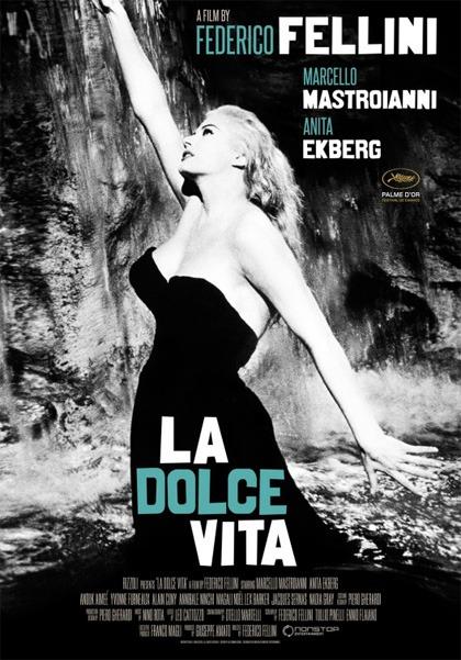 Locandina italiana La dolce vita, film di Federico Fellini