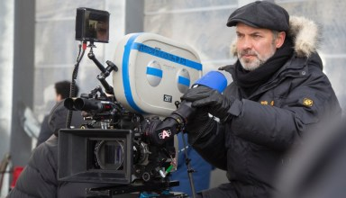 "Director Sam Mendes on the set of Sony Pictures' ""Spectre"""