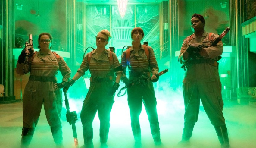 Melissa McCarthy, Kate McKinnon, Kristen Wiig and Leslie Jones star in Sony's GHOSTBUSTERS