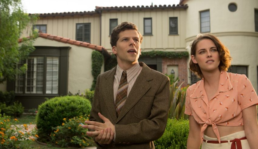 Jesse Eisenberg and Kristen Stewart star in Lionsgate Film's CAFE SOCIETY