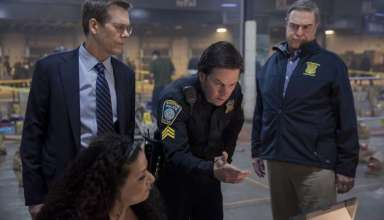 (L-r) Kevin Bacon, Mark Wahlberg and John Goodman star in CBS Films' PATRIOTS DAY