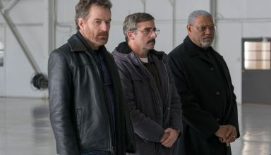 (L-r) Bryan Cranston, Steve Carell and Laurence Fishburne star in Amazon Studios' LAST FLAG FLYING